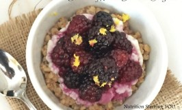 Blackberry Ricotta Breakfast Sorghum