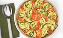 Zucchini Tomato and Onion Bake