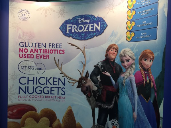Golden Platter Disney Frozen gluten free chicken nuggets