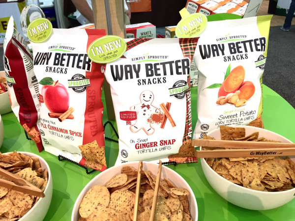 Way Better Snacks new seasonal flavors of sprouted snacks