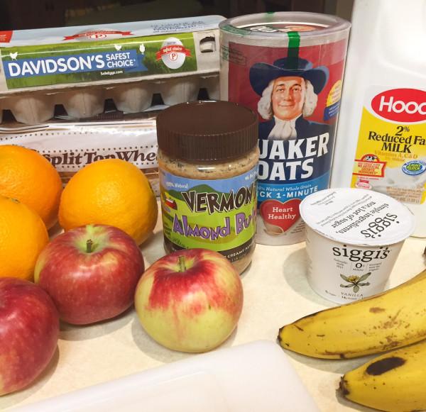 Blog Brulee Breakfast Challenge Ingredients