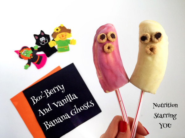 Boo-Berry and Vanilla Banana Ghosts