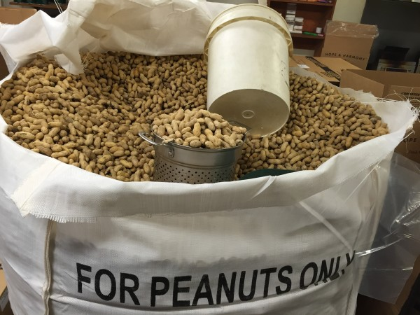Peanuts ready to roast