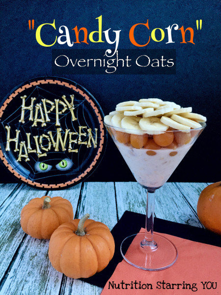 """Candy Corn"" Overnight Oats"