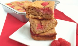 Peanut Butter Raspberry Snack Squares