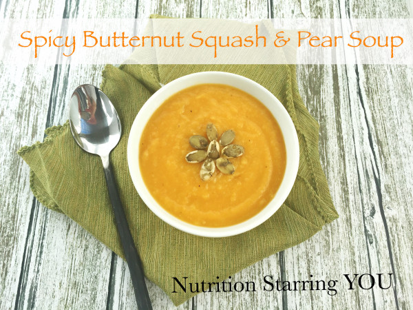 Spicy Butternut Squash and Pear Soup