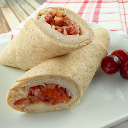 Turkey Wrap with Cranberry Relish