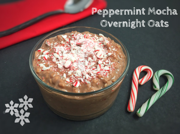 Peppermint Mocha Overnight Oats