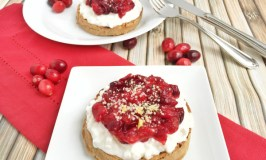 Cranberry Compote with Whole Grain Waffles