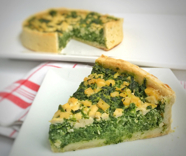 Vegan Spinach Tofu Quiche