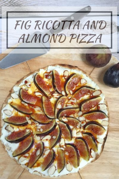 Fig Ricotta and Almond Pizza