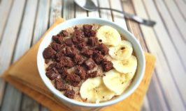 Fiber One Brownie and Banana Cereal Smoothie Bowl