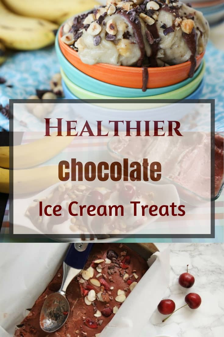 Healthier Chocolate Ice Cream Treats