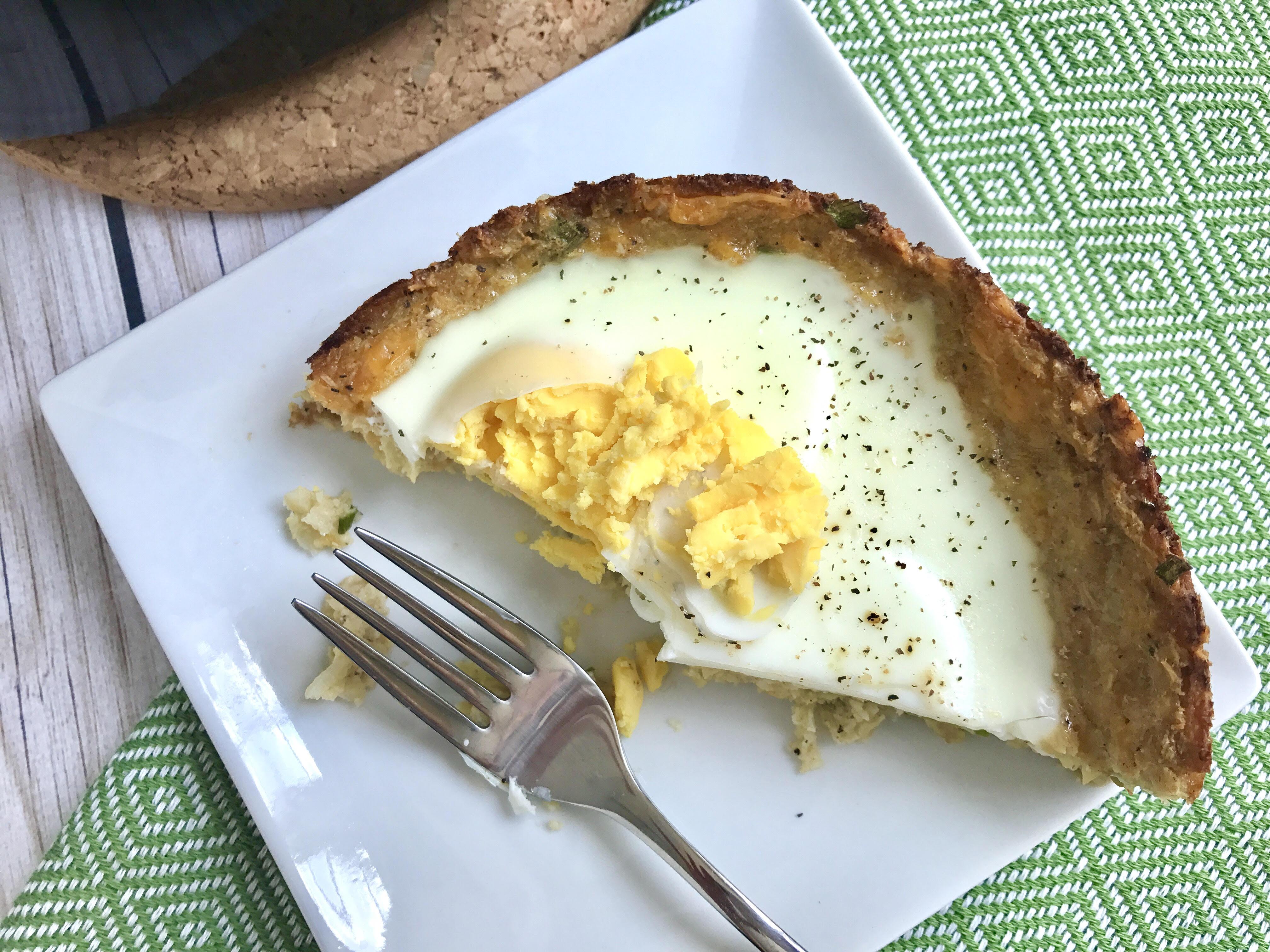 Slow Cooker Eggs Over Cauliflower Hash