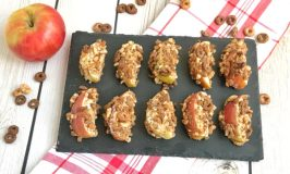 Chocolate PB Cereal Crusted Apples