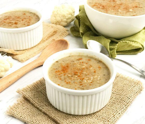 Spicy Cauliflower Mushroom Soup