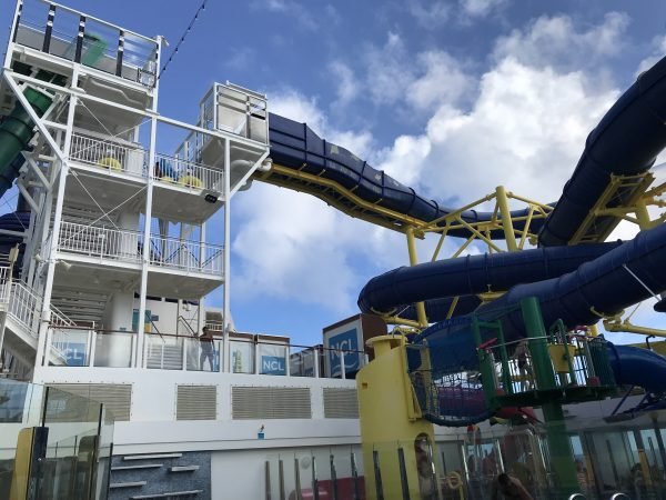 Waterslides on the Norwegian Escape