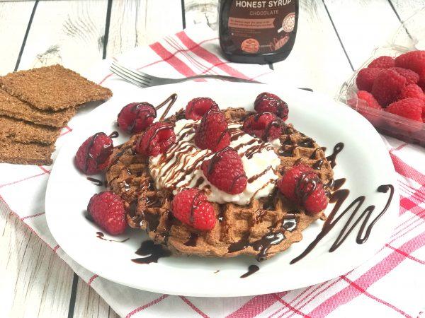Chocolate Raspberry GG Fiber Waffles