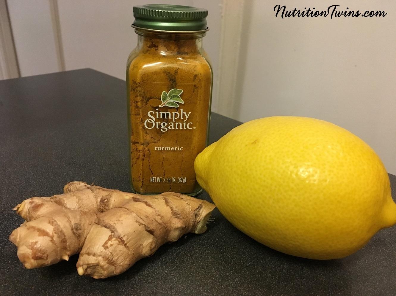 """Lemon Ginger Turmeric """"Detox"""" Tea"""