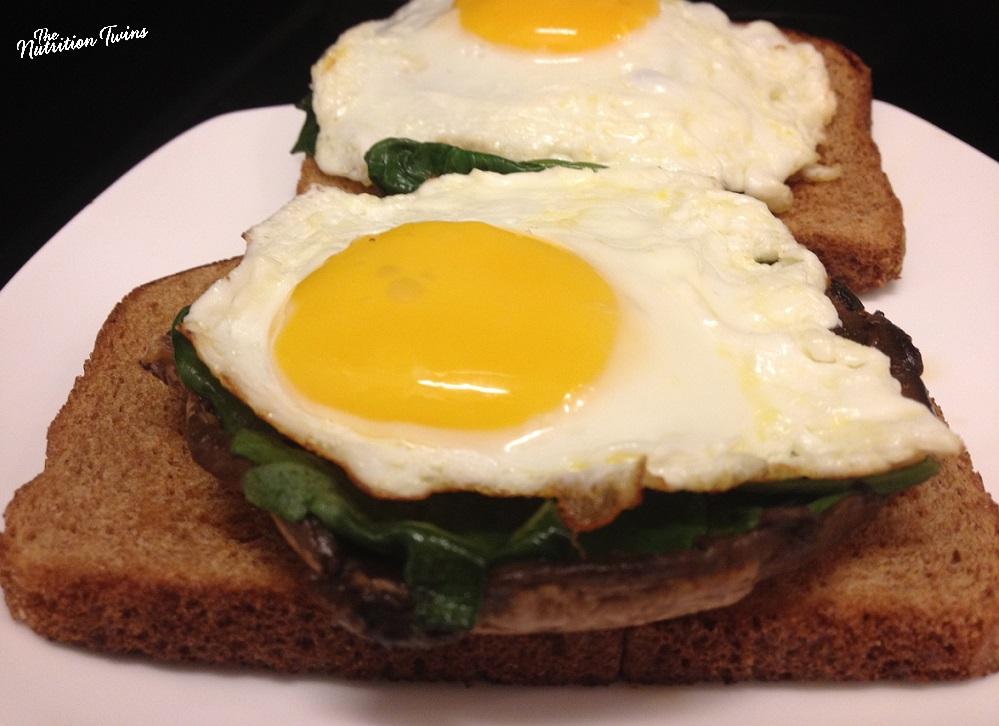 "Sunny Side Eggs on Portobello BREAD and ""bagel"""