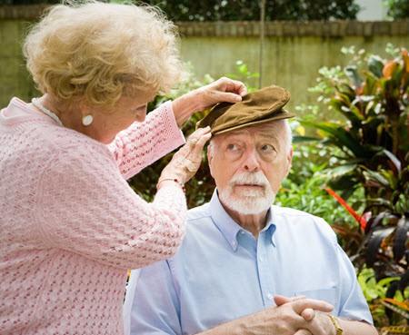 Senior couple Alzheimer's disease