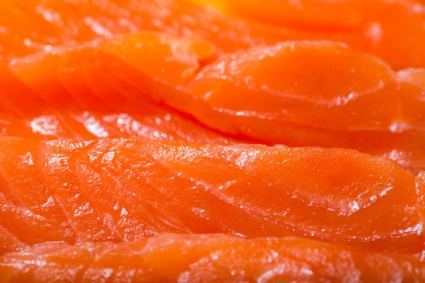Closeup of wild salmon
