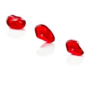 Pomegranate seeds isolated