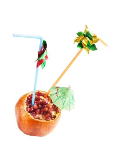 Pomegranate with Straw