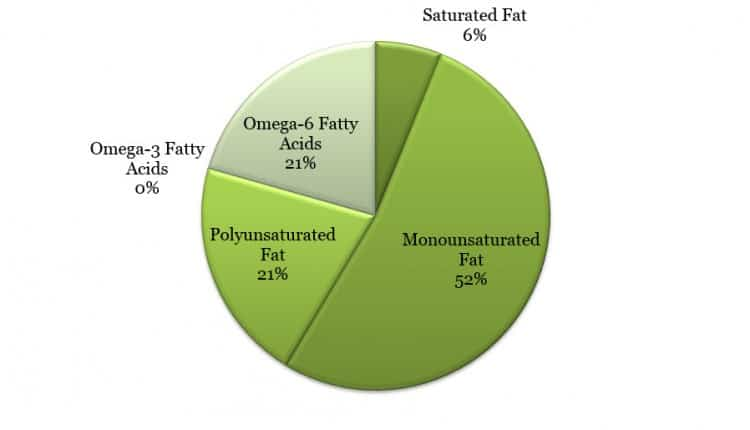 Fat breakdown in almonds