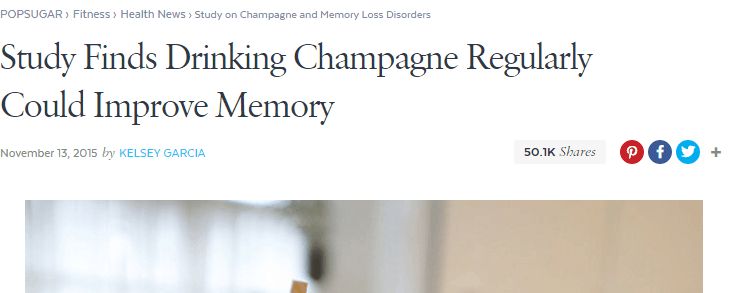 PopSugar Post on Champagne