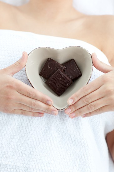 Chocolate in the shape of a heart