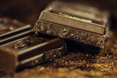 Dark chocolate and coffee