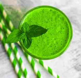 Green smoothie, detox concept