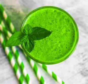 Green smoothie, detox concept
