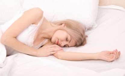 Sleeping woman in white