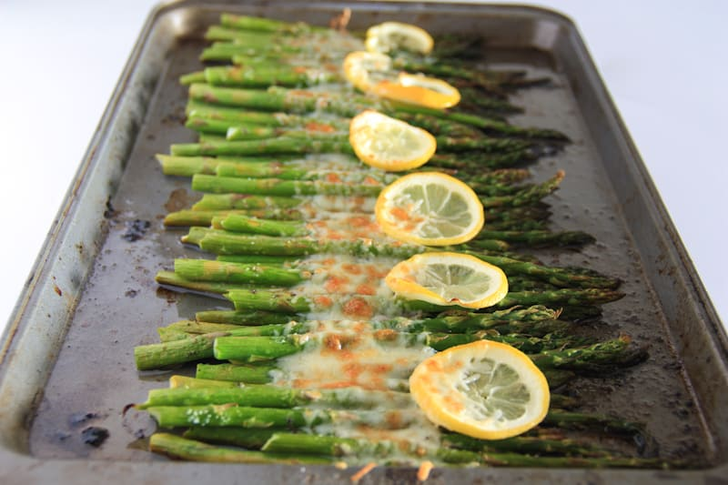 Baked Asparagus with Lemon, Butter and Parmesan