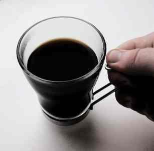 Coffee in a glass mug