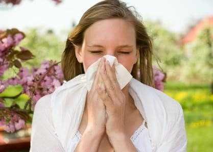 Girl with allergies