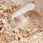 Pile of protein powder