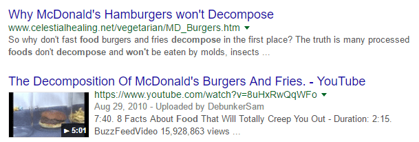 McDonalds Food Won't Spoil