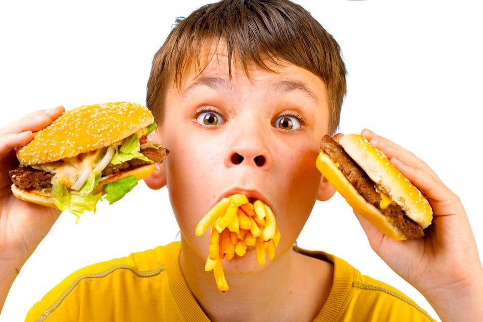 Boy with McDonalds