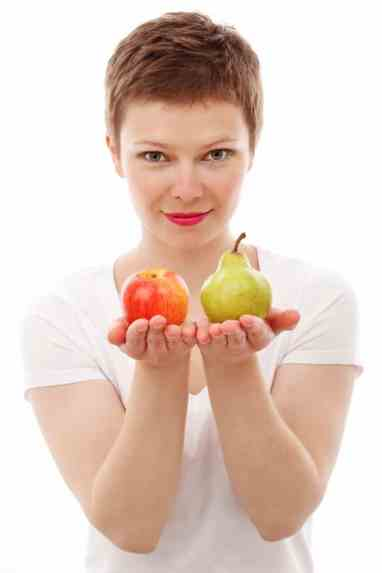 Girl with Apple and Pear