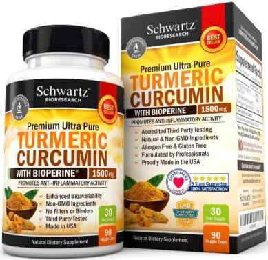 Turmeric Curcumin with Bioperine 1500mg.