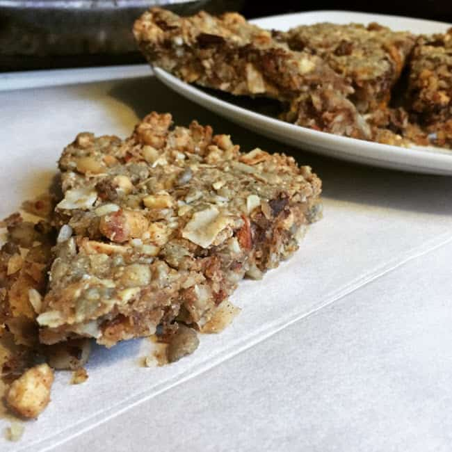 Low Carb 'Granola' Bar Fat Bombs