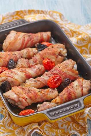 Chicken wrapped in bacon