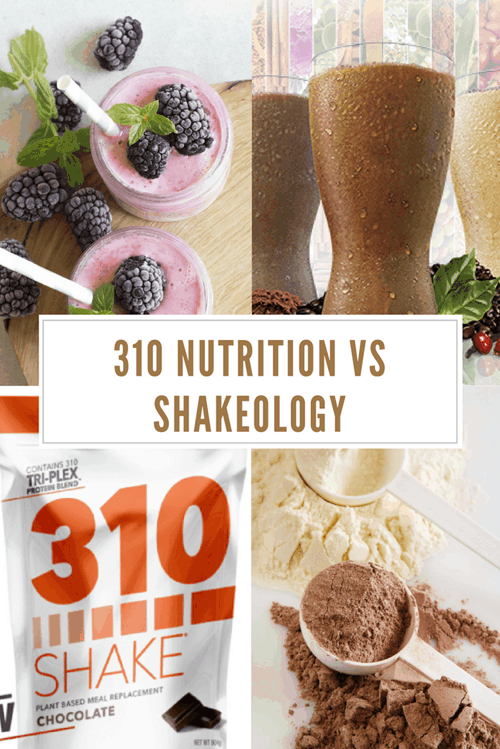 310 Nutrition vs Shakeology