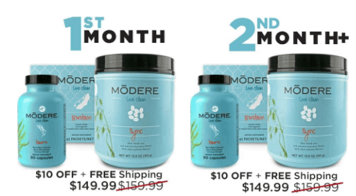 Cost of Modere