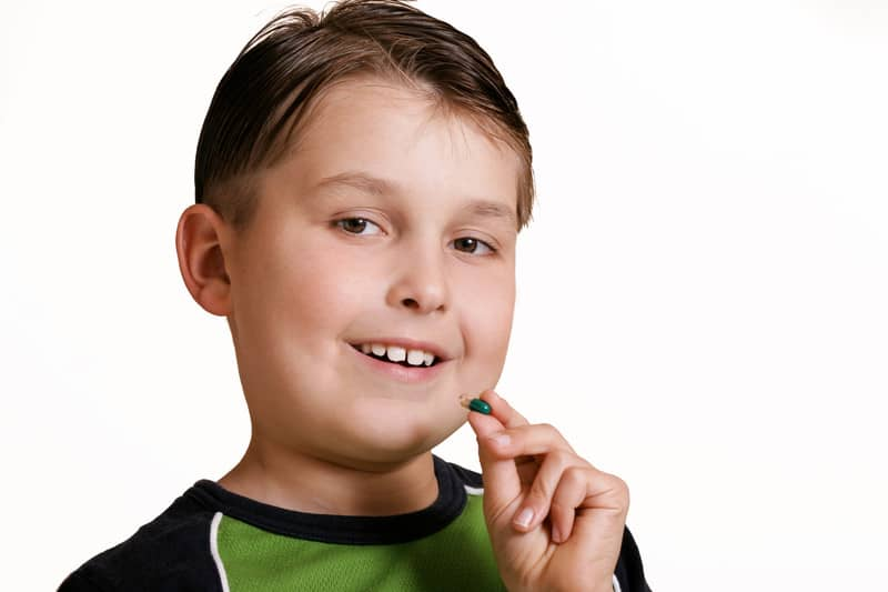 Kid with a supplement