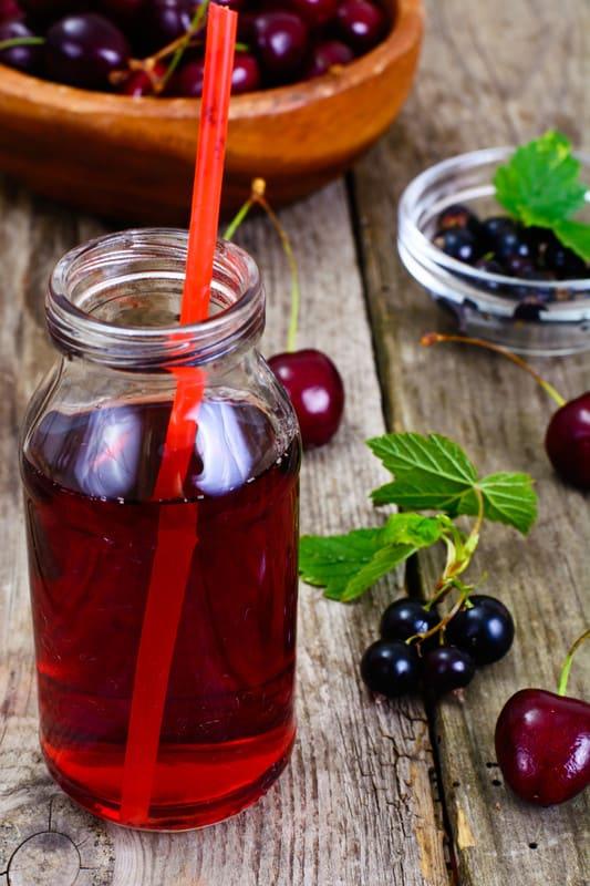 Tart Cherry Juice on a table