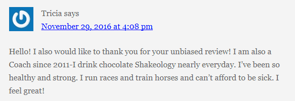Shakeology Positive Review